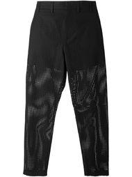 брюки прямого кроя с перфорированным дизайном  Nº21