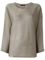 прозрачный свободный свитер  Roberto Collina