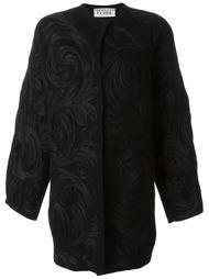 пальто с аппликацией в виде завитков Gianfranco Ferre Vintage