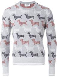 свитер с принтом собак Thom Browne