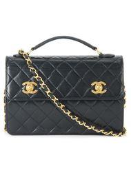 сумка-тоут на двойной застежке Chanel Vintage