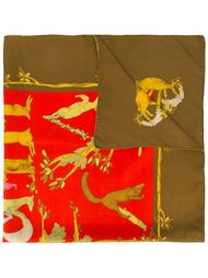 платок с логотипом Hermès Vintage