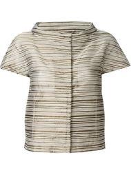 укороченный пиджак с воротником-стойкой Herno