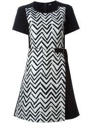 платье с принтом шеврон Jil Sander Navy