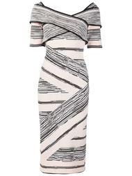 платье с узором  Christian Siriano