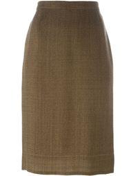 классическая юбка-карандаш Prada Vintage