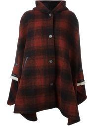 пальто в шотландскую клетку с капюшоном Mm6 Maison Margiela
