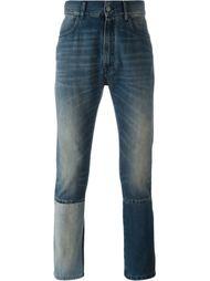 джинсы с контрастными панелями Maison Margiela