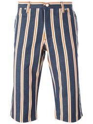 полосатые джинсовые шорты Walter Van Beirendonck Vintage