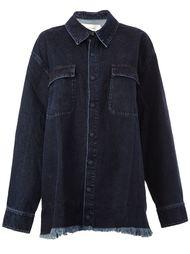 джинсовая рубашка с необработанными краями  Marques'almeida
