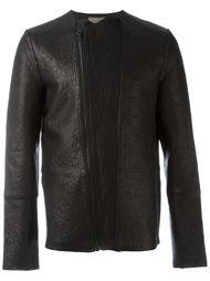 фактурная байкерская куртка Tony Cohen