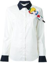 рубашка с нашивкой Love Moschino