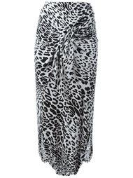 длинная юбка с леопардовым принтом Norma Kamali