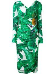 платье с банановыми листьями и пайетками Dolce & Gabbana