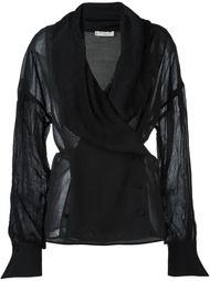 блузка с воротником-шалькой Christian Dior Vintage