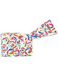 клатч с абстрактным принтом Boutique Moschino