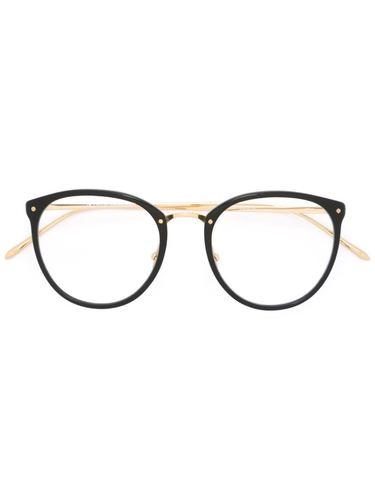 очки с круглой оправой Linda Farrow Gallery