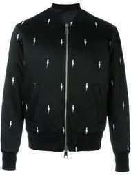 куртка-бомбер с вышивкой молний Neil Barrett