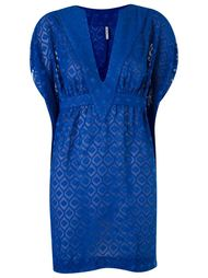 jacquard beach dress Blue Man
