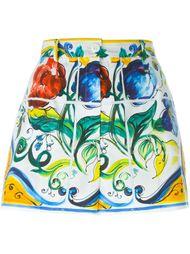 шорты с узором Majolica  Dolce & Gabbana