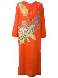 платье-кафтан с цветочным принтом Gianfranco Ferre Vintage