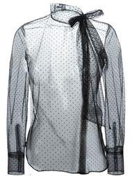 прозрачная блузка в горошек Valentino