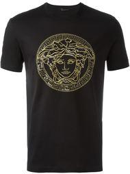 футболка с вышивкой 'Medusa' Versace
