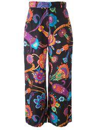 брюки палаццо с цветочным принтом Moschino Vintage