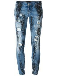 джинсы скинни с принтом кружева Philipp Plein