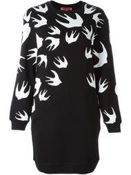 платье-толстовка с принтом 'Swallow' McQ Alexander McQueen