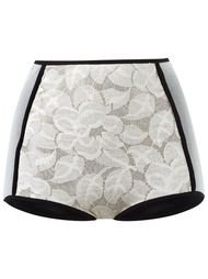 panelled lace hot pants Emannuelle Junqueira