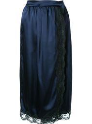 юбка с запахом и кружевной отделкой Muveil