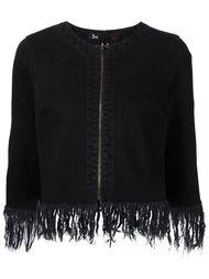 пиджак на молнии с бахромой 3X1