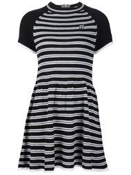 расклешенное полосатое платье  Unif