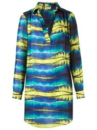 printed shirt dress Blue Man