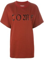 футболка с принтом 'Come' Mm6 Maison Margiela
