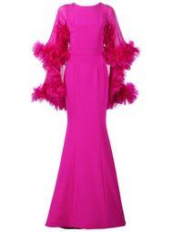 платье-кейп с оборками Christian Siriano
