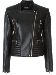 стеганая байкерская куртка  Balmain