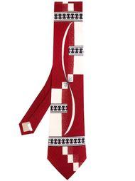 галстук с геометрическим принтом Yohji Yamamoto Vintage