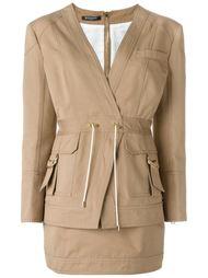пиджак с застежкой-молнией сзади Balmain