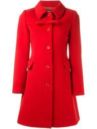 приталенное пальто с бантом Boutique Moschino