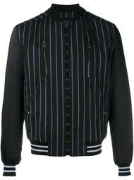полосатая шерстяная университетская куртка Lanvin