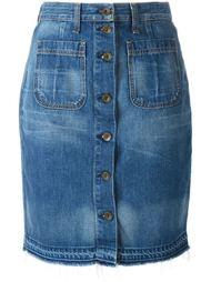 джинсовая юбка с застежкой на пуговицы Rag & Bone /Jean