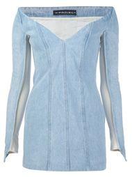 джинсовое платье с открытыми плечами Y / Project