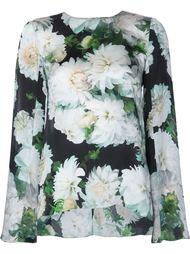 блузка с цветочным узором Adam Lippes