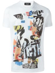 футболка с принтом-коллажем Dsquared2