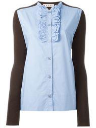 поплиновая рубашка с рюшами Marni