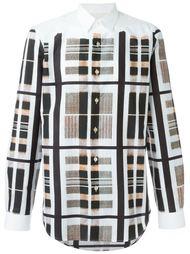 клетчатая футболка с абстрактным принтом Paul Smith