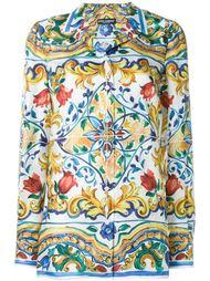 рубашка с узором Majolica  Dolce & Gabbana