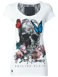 футболка с принтом черепа и бабочек Philipp Plein